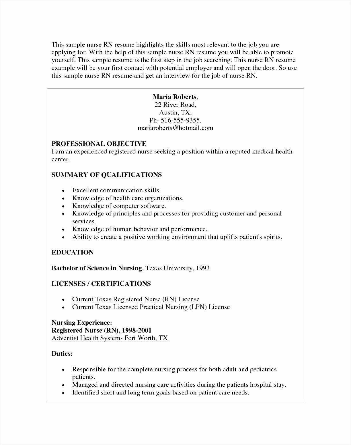 Curriculum Vitae Nursing Template Inspirational 7 Cv Template Nursing
