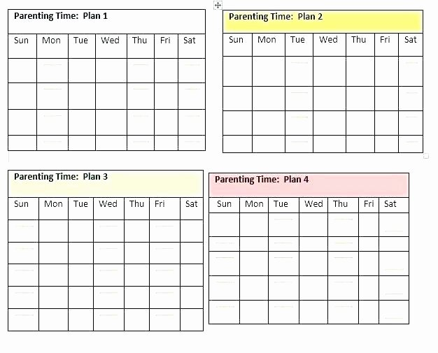 Custody Holiday Schedule Template Best Of Co Parenting Calendar Template Child Custody Character