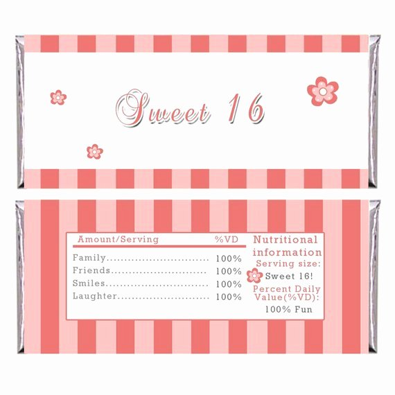 Custom Candy Wrapper Template Awesome Personalized Printable Adult Birthday Candy Bar Wrapper