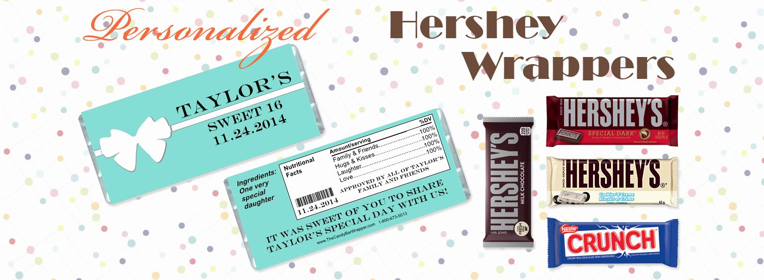 Custom Candy Wrapper Template Beautiful Personalized Candy Bar Wrappers and Hershey S Chocolate Bars