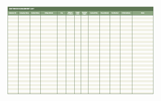 Customer Contact List Template Beautiful Customer Contact List