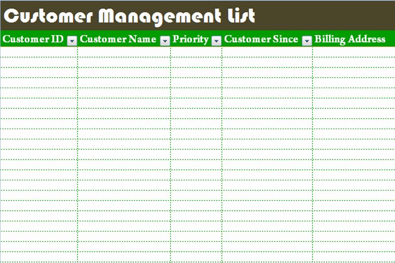 Customer Contact List Template Beautiful Customer Management List Template Dotxes