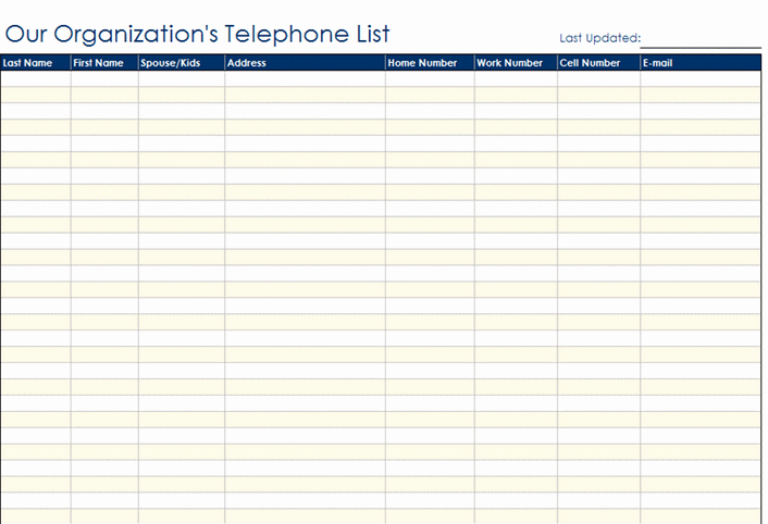 Customer Contact List Template Inspirational Best S Of Contact Information Template Phone