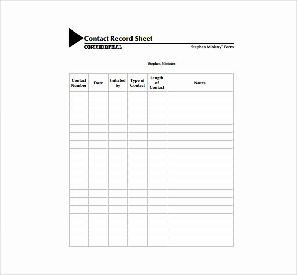 Customer Contact List Template Luxury Contact Sheet Template 16 Free Excel Documents Download