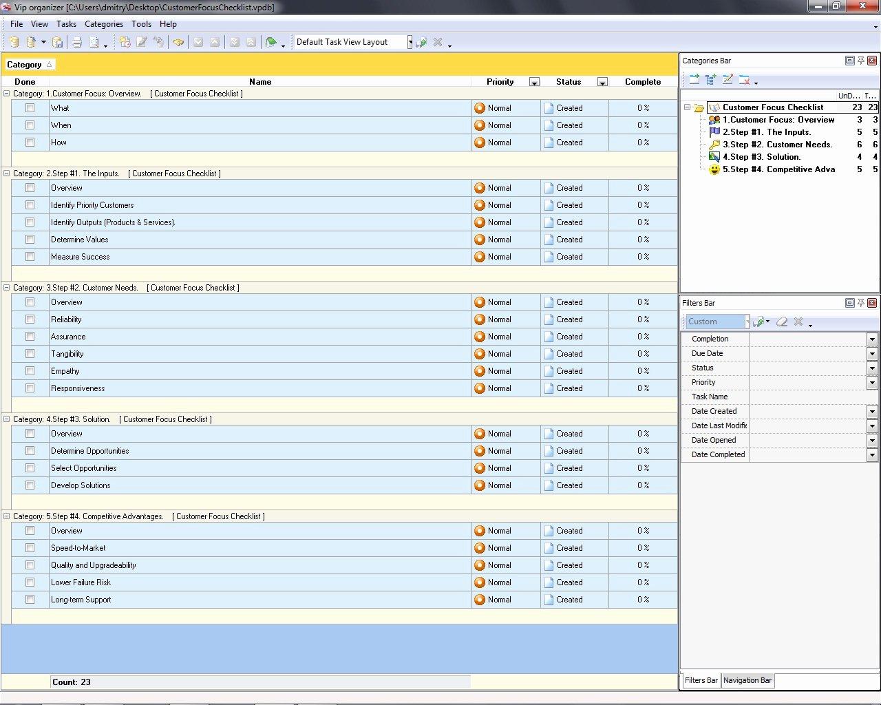 Customer Contact List Template New Customer Focus Checklist to Do List organizer