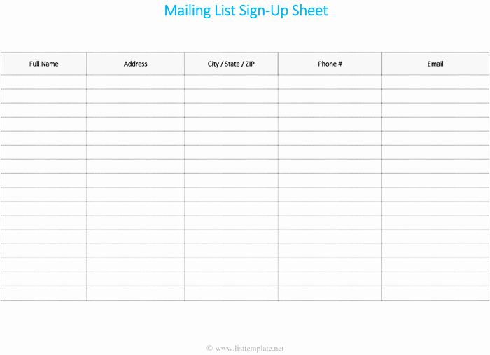Customer Contact List Template New Free Printable Contact List Templates