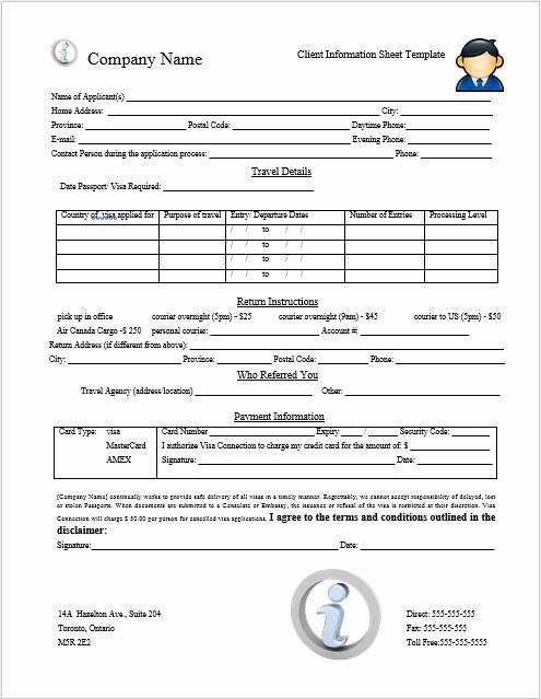 client information sheet template 756
