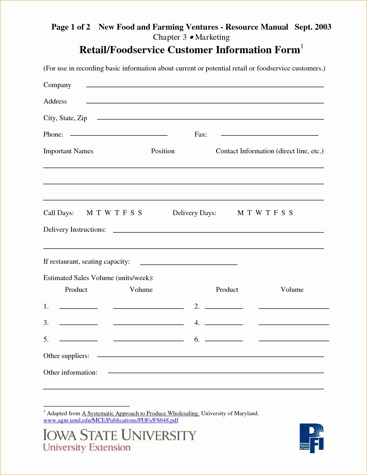 Customer Information Sheet Template Beautiful Pany Information Template Portablegasgrillweber