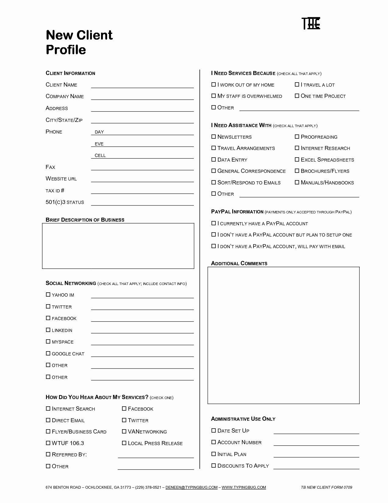 Customer Profile Template Excel Lovely Profile Sheet Template Portablegasgrillweber