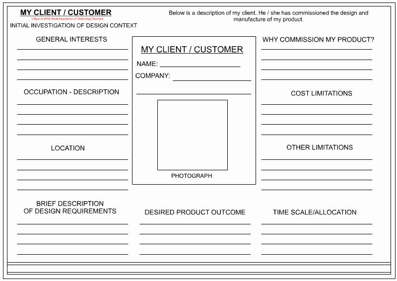 Customer Profile Template Excel New 14 Design Client Profile Template Interior Design