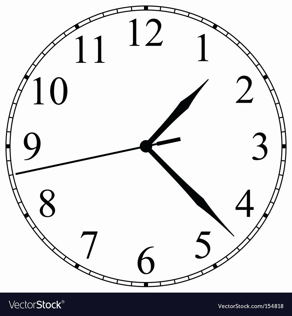 Customizable Clock Face Template Awesome Clock Face Royalty Free Vector Image Vectorstock