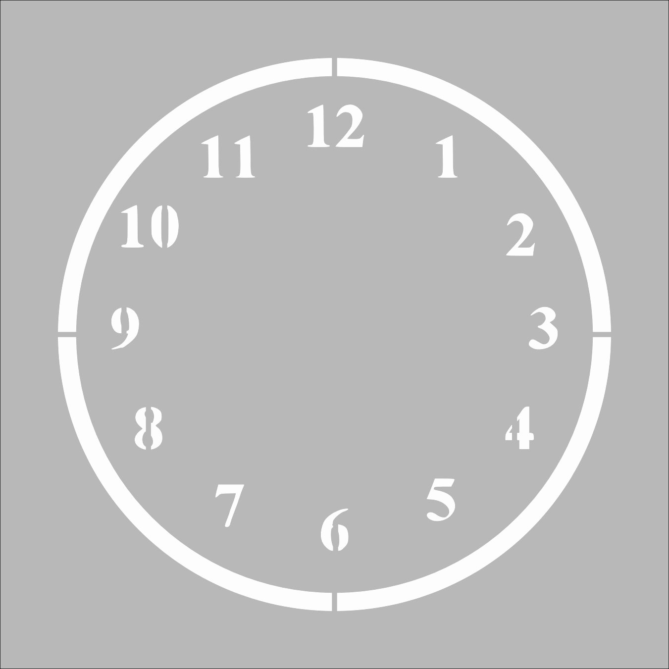 Customizable Clock Face Template Best Of Clock Stencil In Reusable Mylar Small to by Westlondonlaser