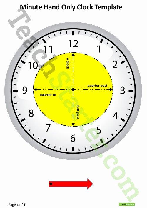 Customizable Clock Face Template Inspirational Analogue Clock Worksheet O Clock and Half Past Teaching