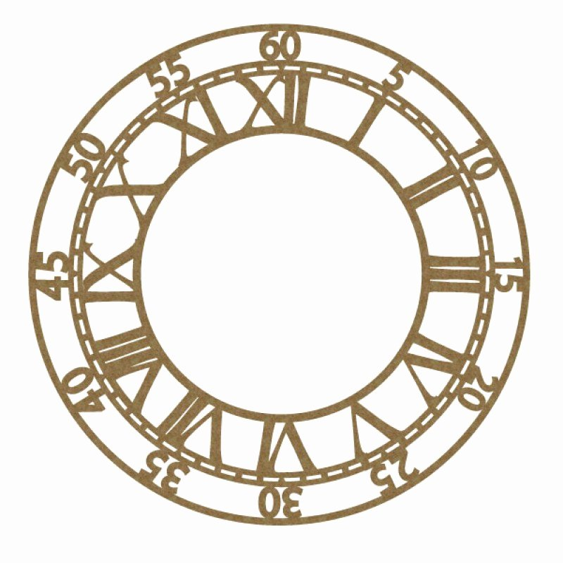"""Customizable Clock Face Template Inspirational Clock Face 6"""""""
