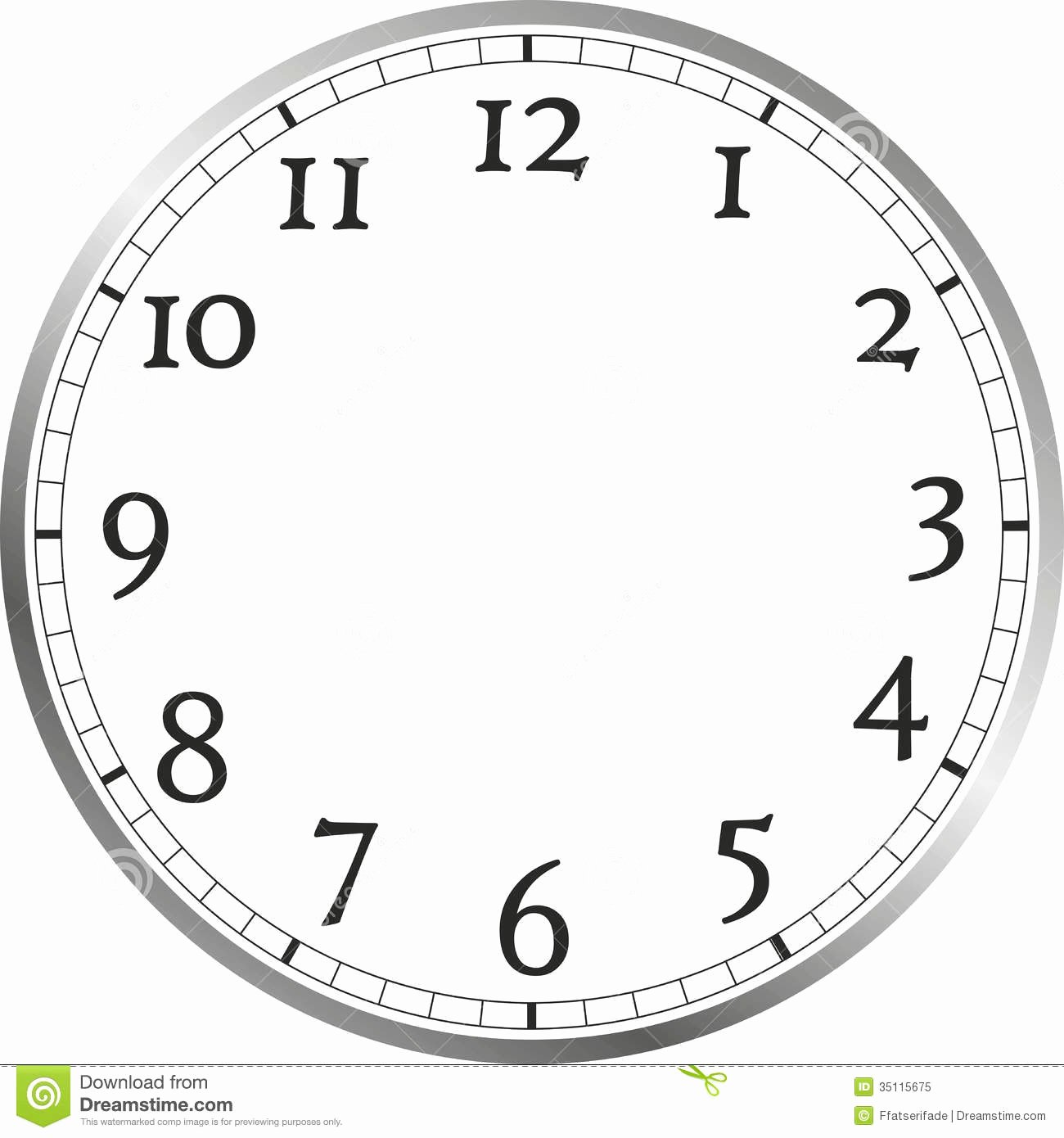 Customizable Clock Face Template Lovely Clock Free Clipart
