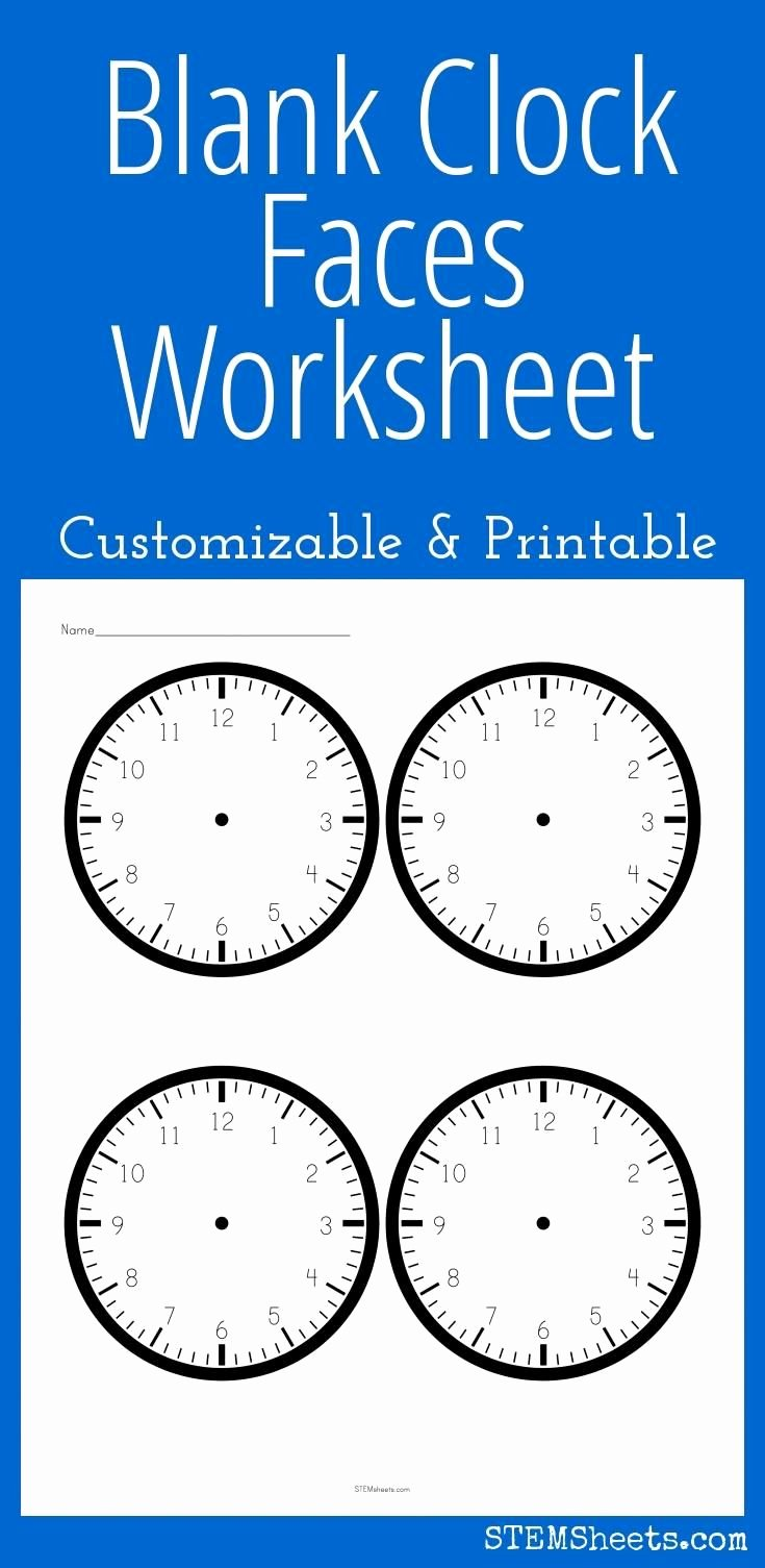 Customizable Clock Face Template Luxury 17 Best Images About Math Stem Resources On Pinterest