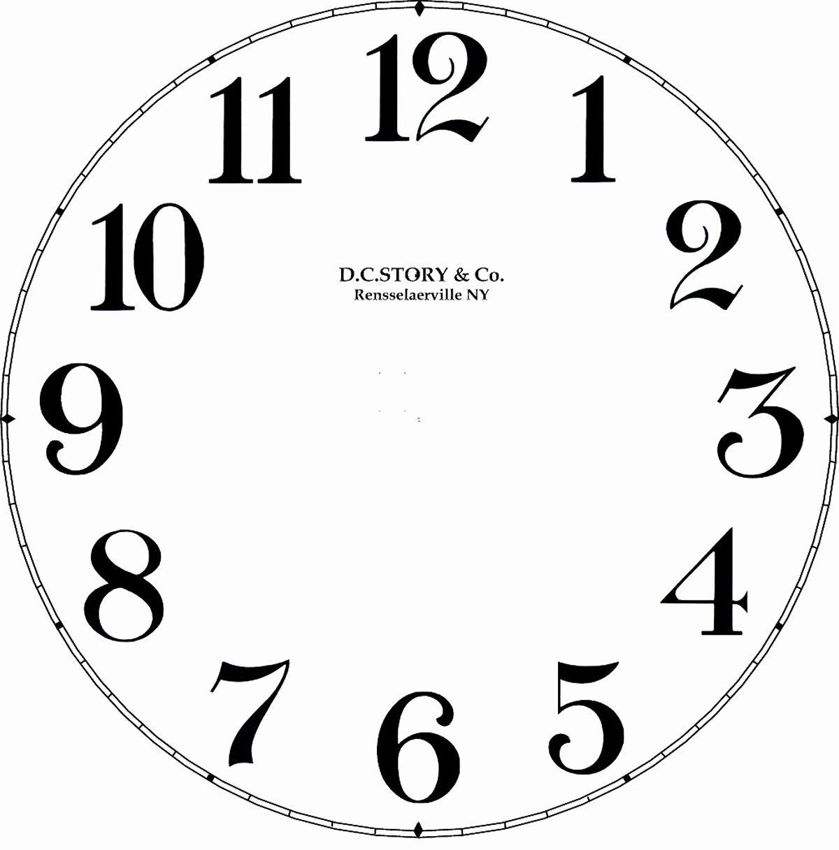 Customizable Clock Face Template Unique Clock Decal