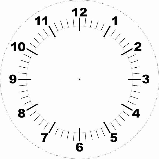 Customizable Clock Face Template Unique Face Printable Clock