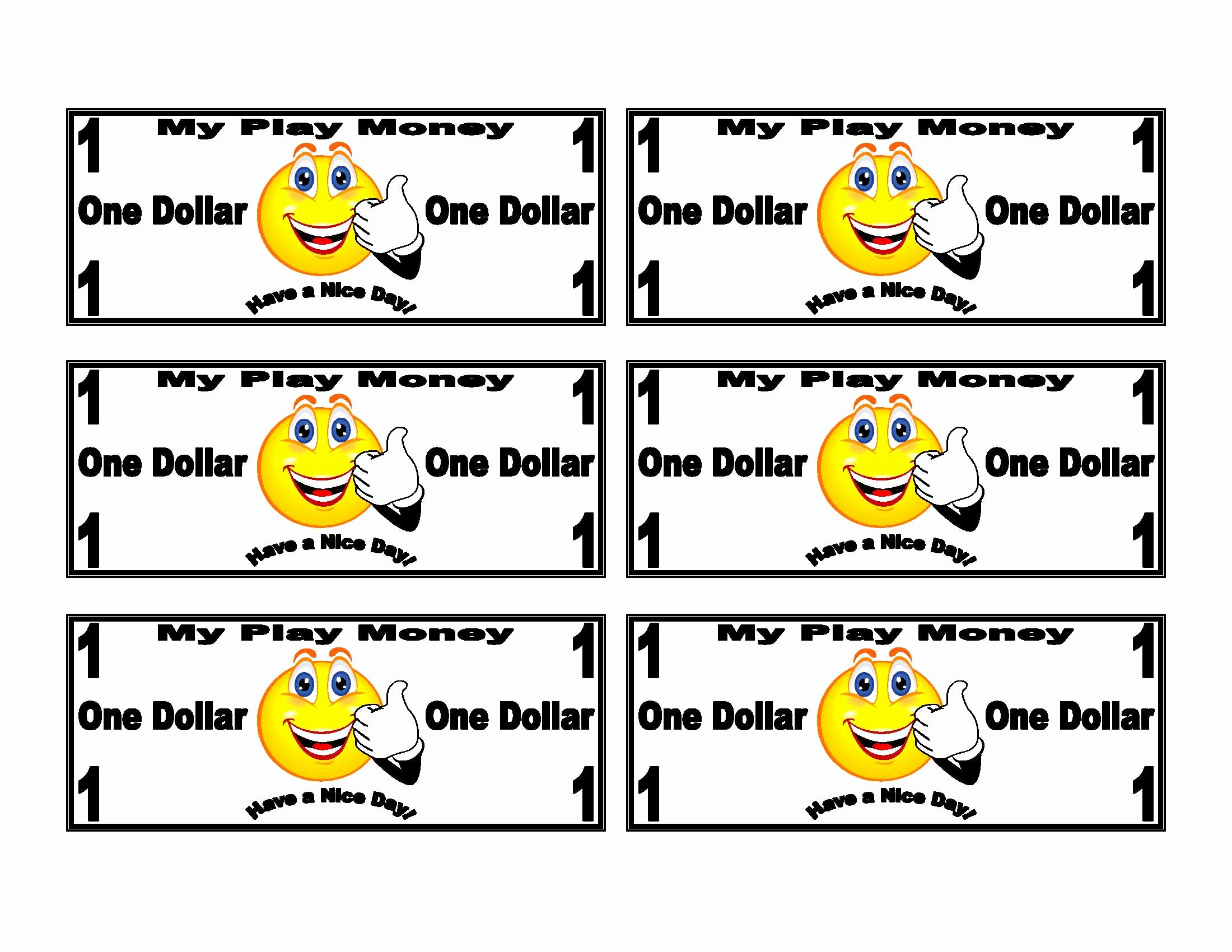 Customizable Fake Money Template Best Of 7 Best Of Printable Funny Money Printable Money
