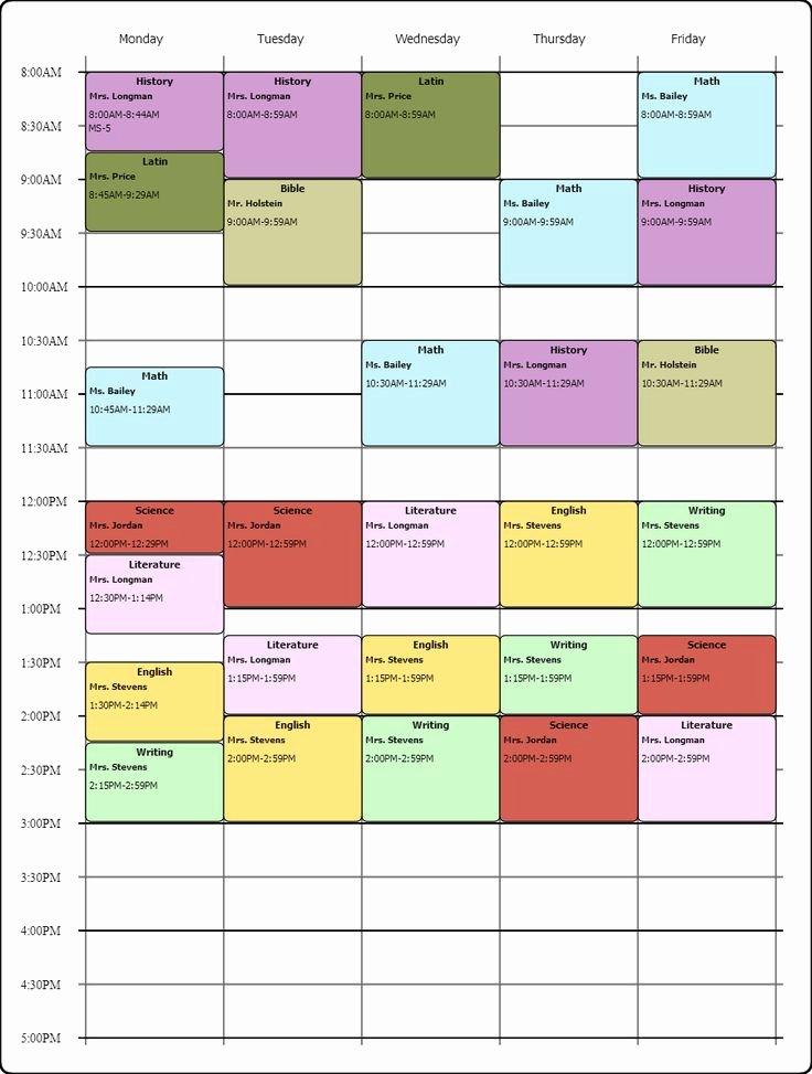 Cute Class Schedule Template Elegant Cute Class Schedule Maker