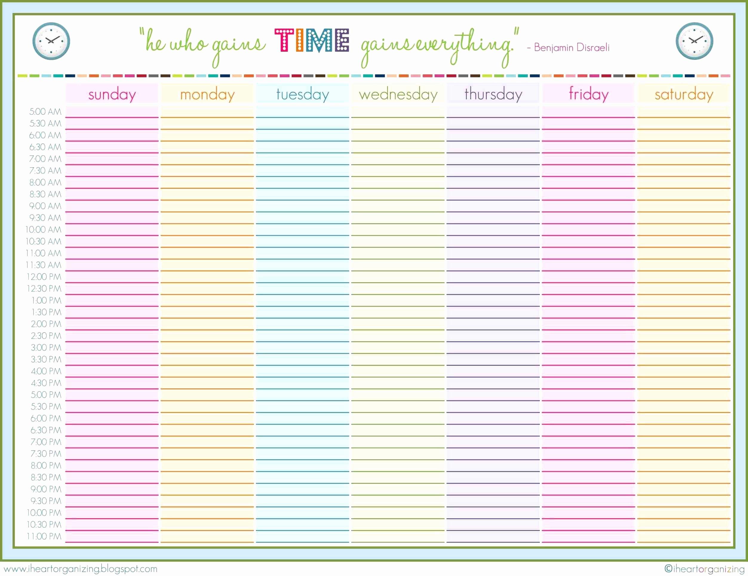 Cute Class Schedule Template Elegant New Cute Weekly Schedule Template Inspirational Weekly
