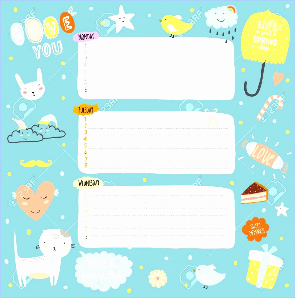 Cute Class Schedule Template Fresh 8 Weekly Timetable Template Excel Exceltemplates
