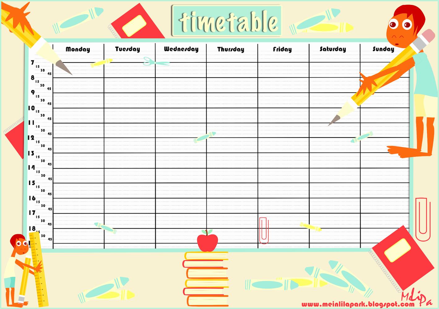 Cute Class Schedule Template Lovely Cute Class Schedule Template
