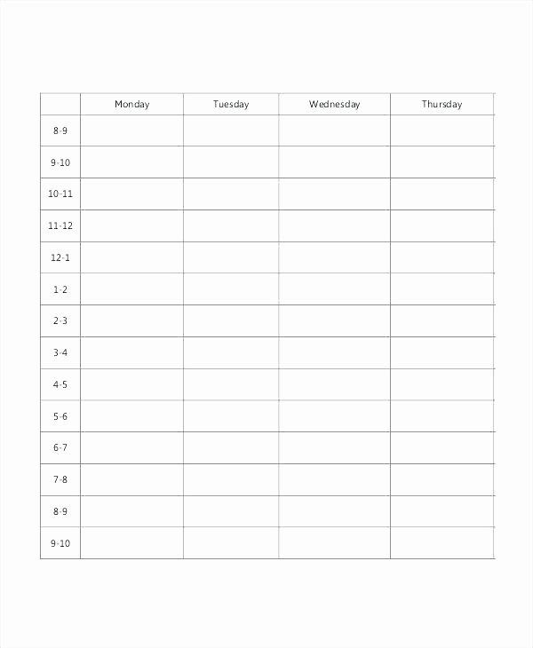 Cute Class Schedule Template Luxury Cute Class Schedule Template Blank School Timetable