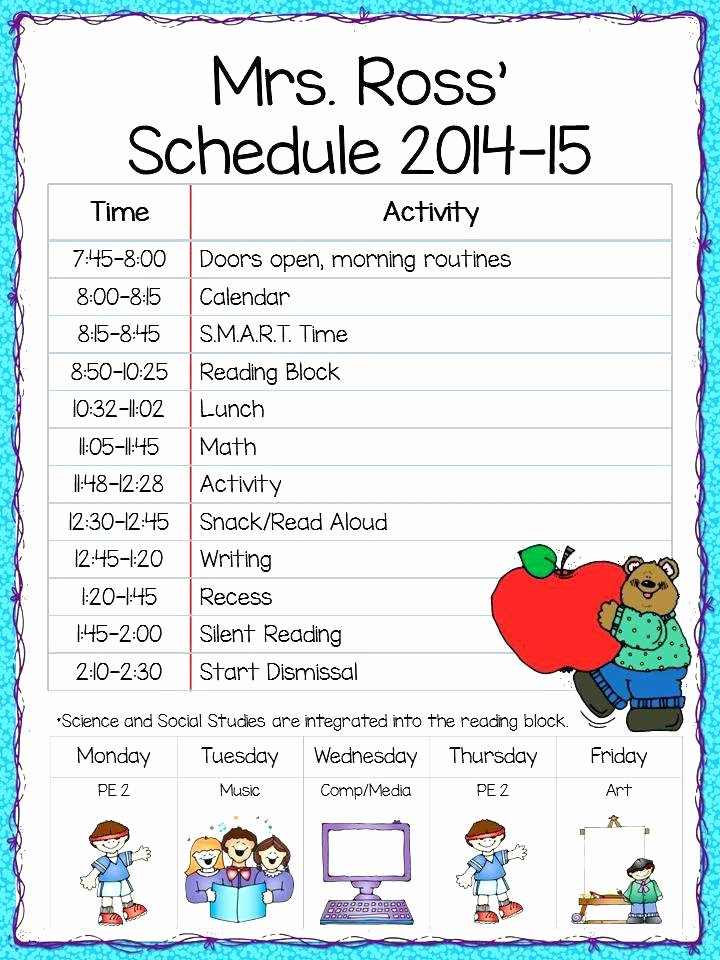 Cute Class Schedule Template New Timetable Blank Class Schedule Template Printable College