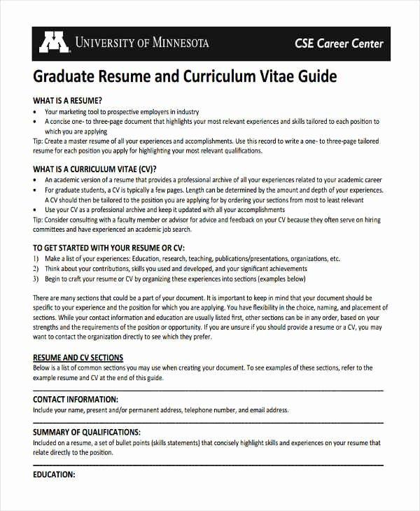 Cv Template Graduate School Unique 10 Graduate Fresher Resume Templates Pdf Doc