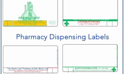 Cvs Prescription Label Template Best Of Pharmacy Labels In Bie Best Prices for Pharmacy Labels In