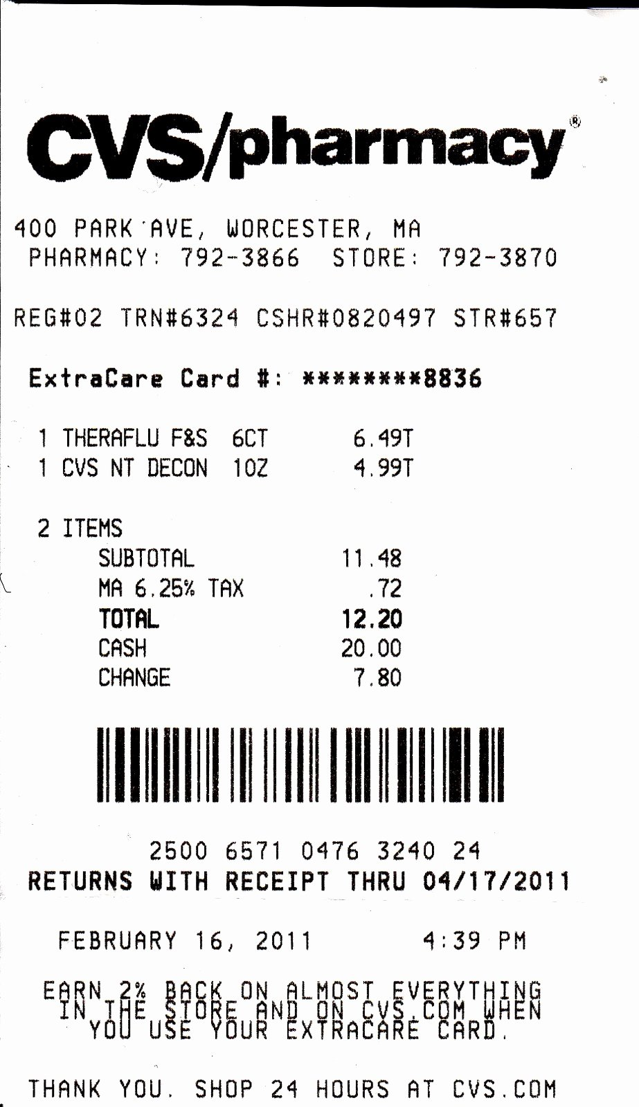 Cvs Prescription Label Template Inspirational My Life Scanned Cvs Receipt