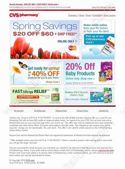 Cvs Prescription Label Template Unique 69 Best Email Design Seasonal Spring Images On
