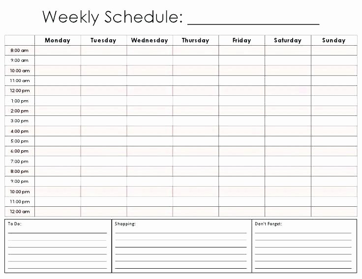 Daily Appointment Schedule Template Best Of Free Printable Weekly Appointment Calendar 2018 Pertaining