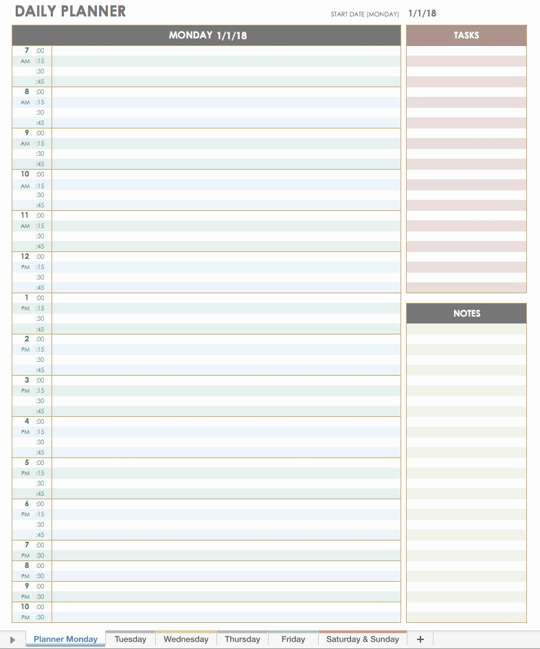Daily Appointment Schedule Template Elegant Free Excel Calendar Templates
