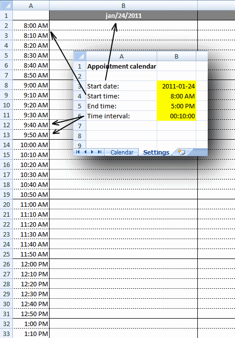 Daily Appointment Schedule Template Lovely Weekly Appointment Calendar