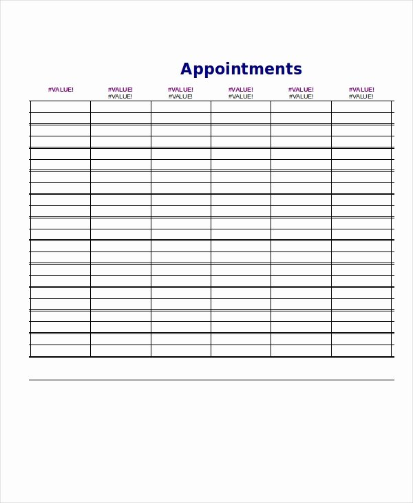 Daily Appointment Schedule Template New Daily Schedule Template 9 Free Word Pdf Documents