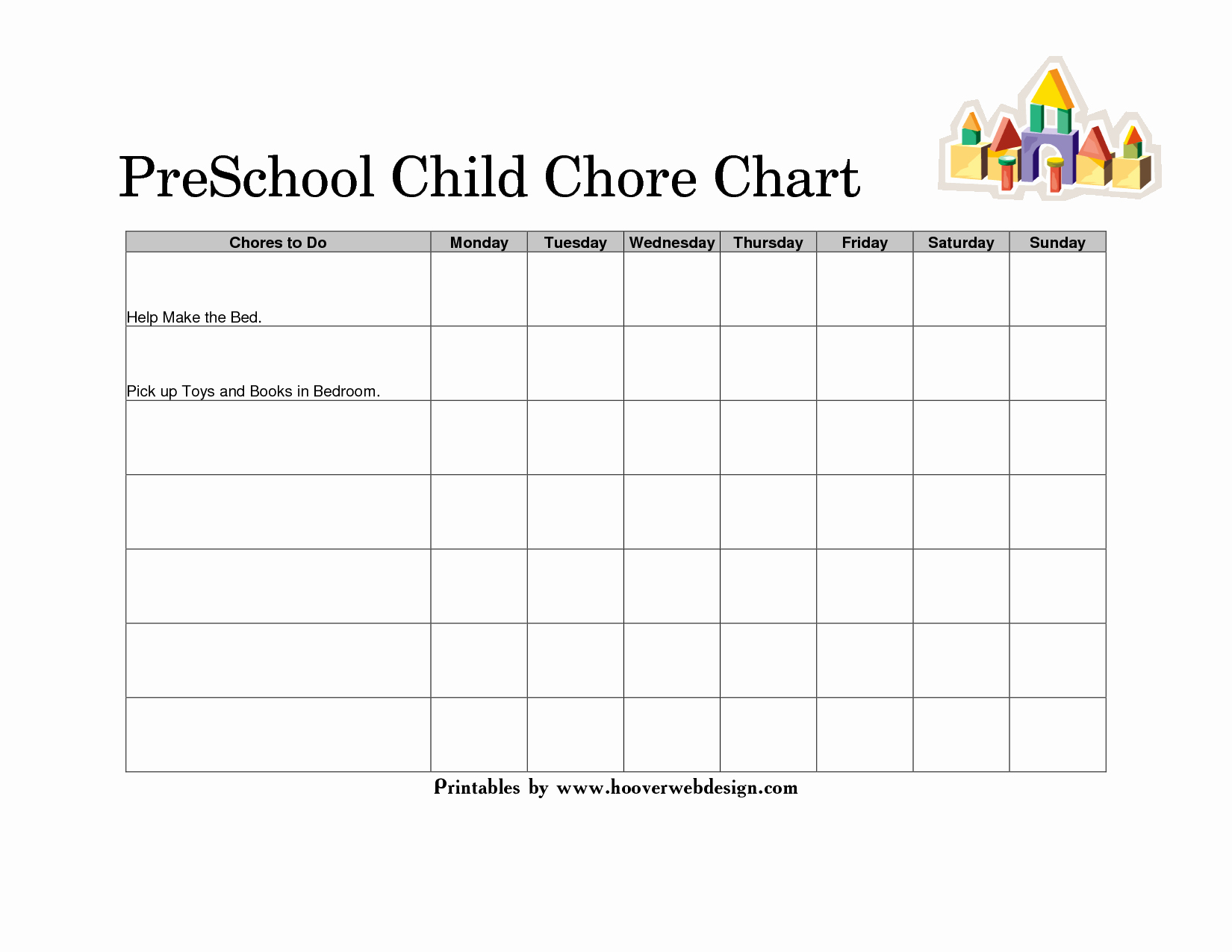 Daily Behavior Chart Template Awesome 10 Best Of Behavior Charts for Preschoolers