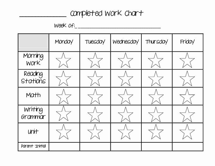 Daily Behavior Chart Template Beautiful 10 Best Of Daily Behavior Sticker Charts Blank