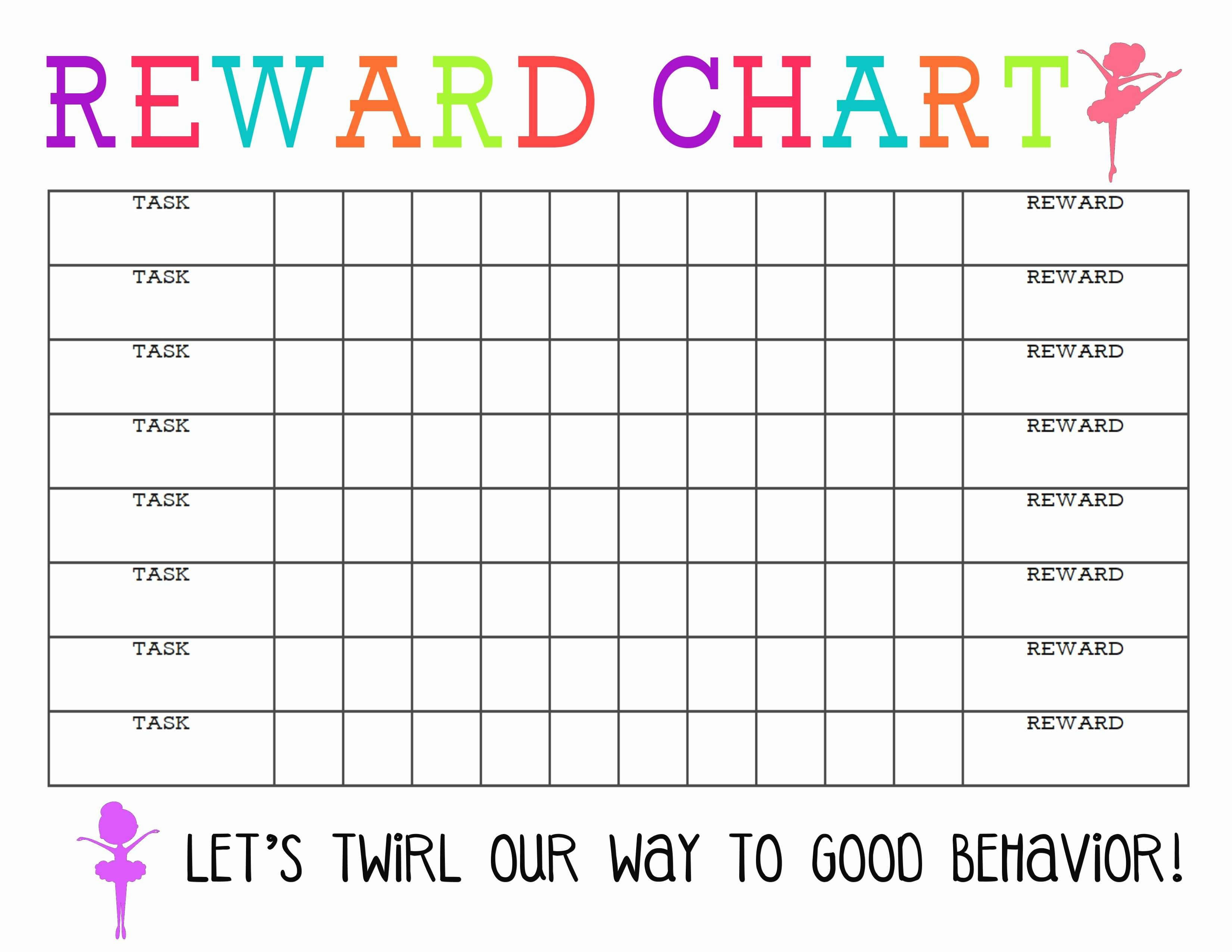 Daily Behavior Chart Template Beautiful Lovely Chore Chart Template Daily Weekly Monthly