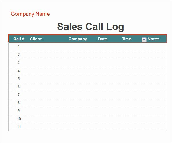 Daily Call Log Template Awesome Call Log Template 11 Download Free Documents In Pdf Word