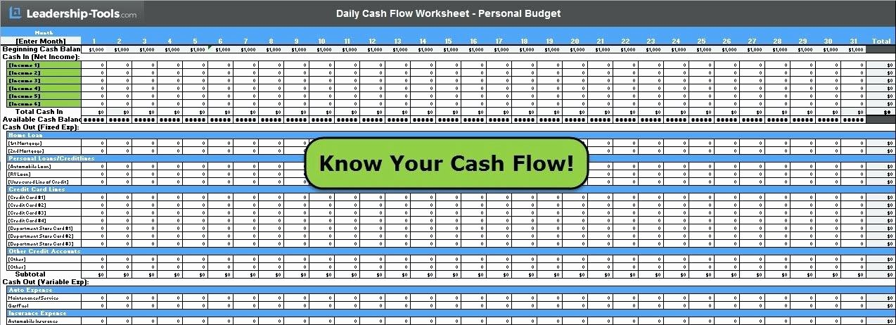 Daily Cash Flow Template Elegant Daily Cash Flow Template Daily Cash Flow Template Excel