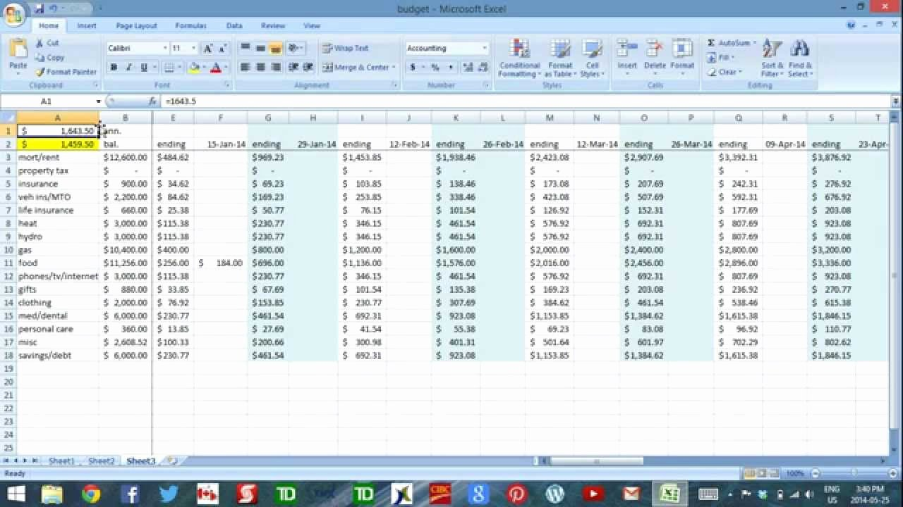 Daily Cash Flow Template Elegant Using Excel to Bud Part 3 Daily Cash Flow