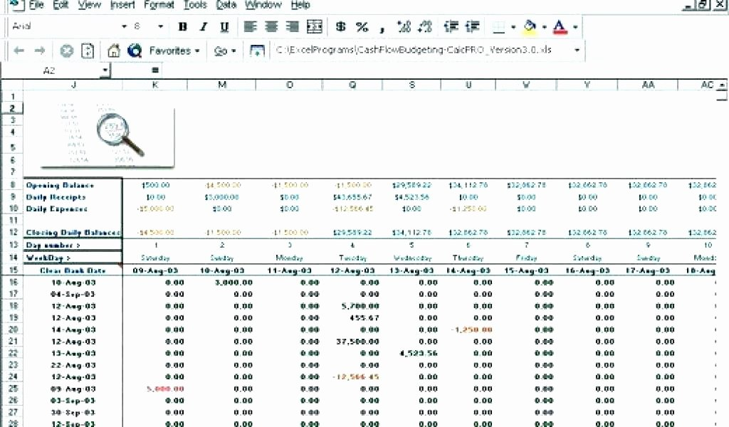 Daily Cash Flow Template Fresh Cash Flow Spreadsheet Excel Cash Flow Excel Template Cash