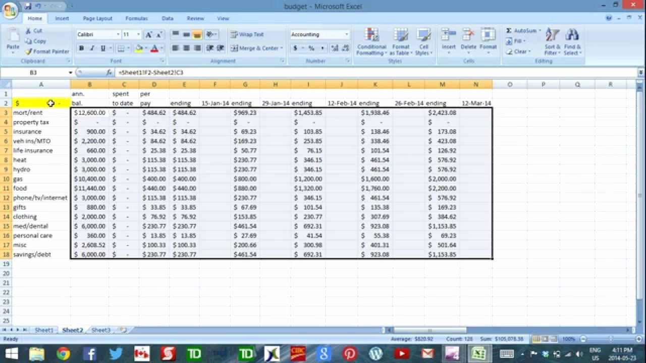 Daily Cash Report Template Awesome Using Excel to Bud Part 4 Cash Flow Template