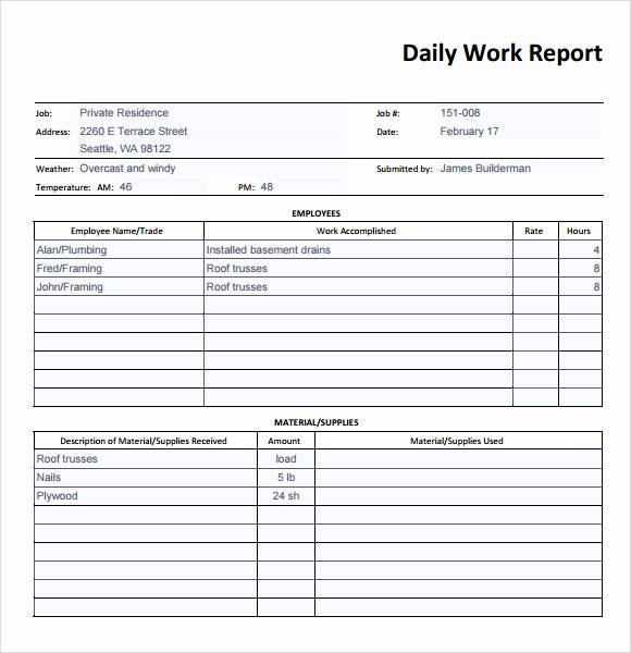 Daily Cash Report Template Beautiful Best S Of Daily Report Template Daily Production