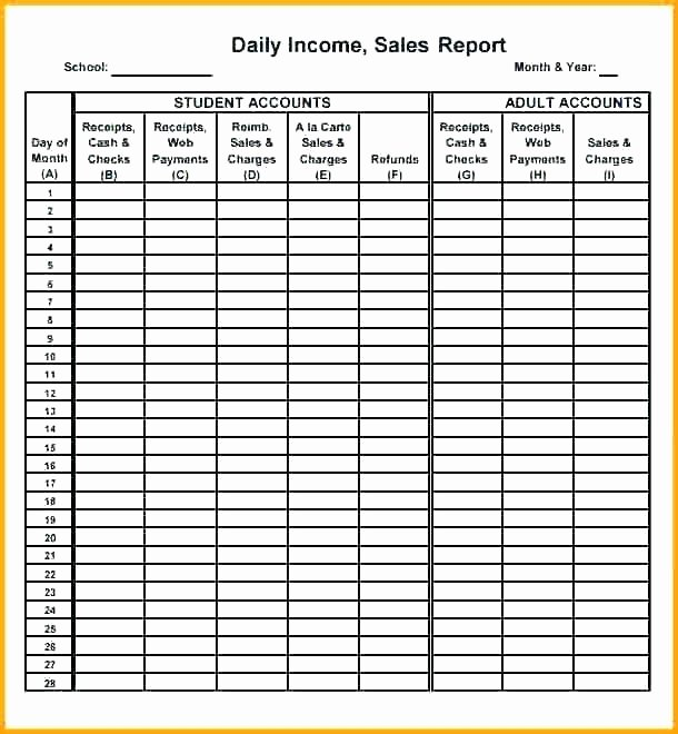 Daily Cash Report Template Inspirational Daily Takings Spreadsheet Fresh Graph Restaurant