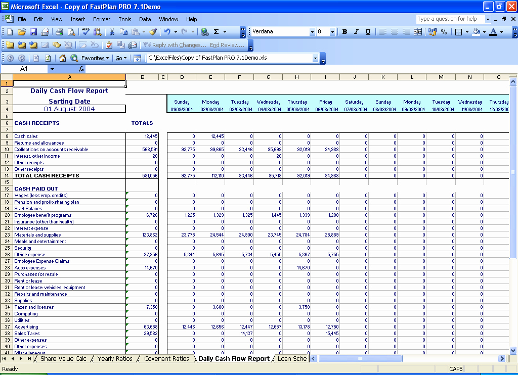 Daily Cash Report Template Lovely 5 Years Monthly Bud Planner Spreadsheets