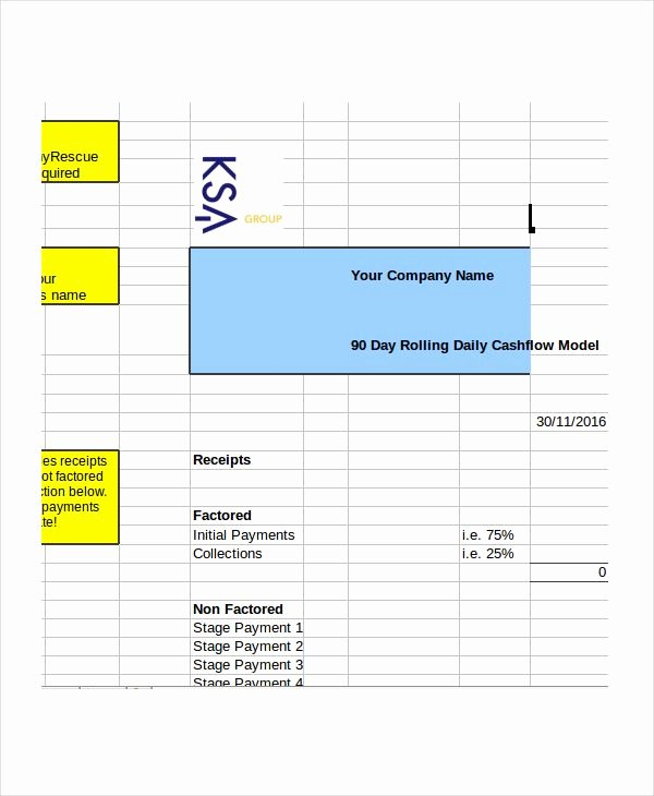 Daily Cash Report Template Luxury Daily Cash Flow Template Excel Cash Bud Template
