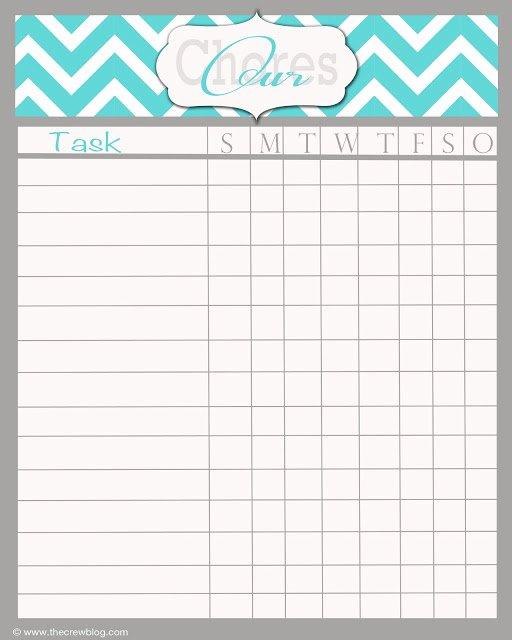 Daily Chore Chart Template Elegant Free Printable Daily Chore Chart Template Household Chore